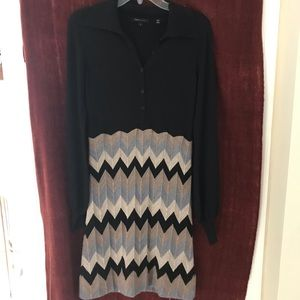 BCBG crochet sweater dress